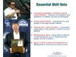 essential skill sets