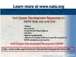 learn more at www nata org