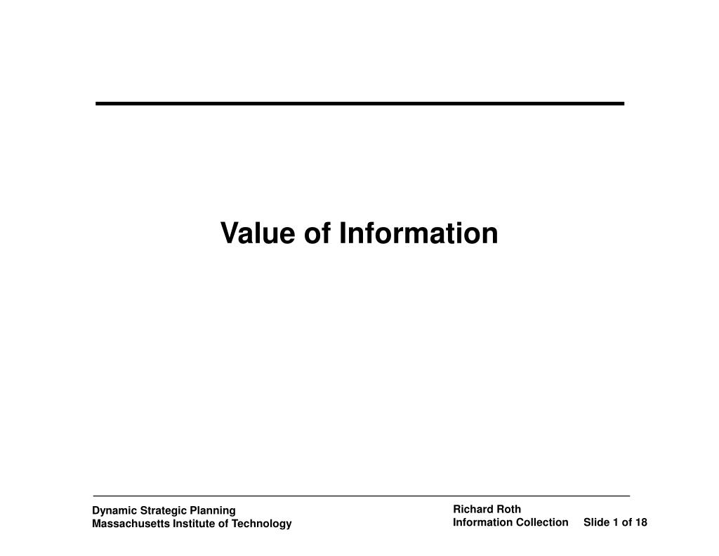 value of information l.