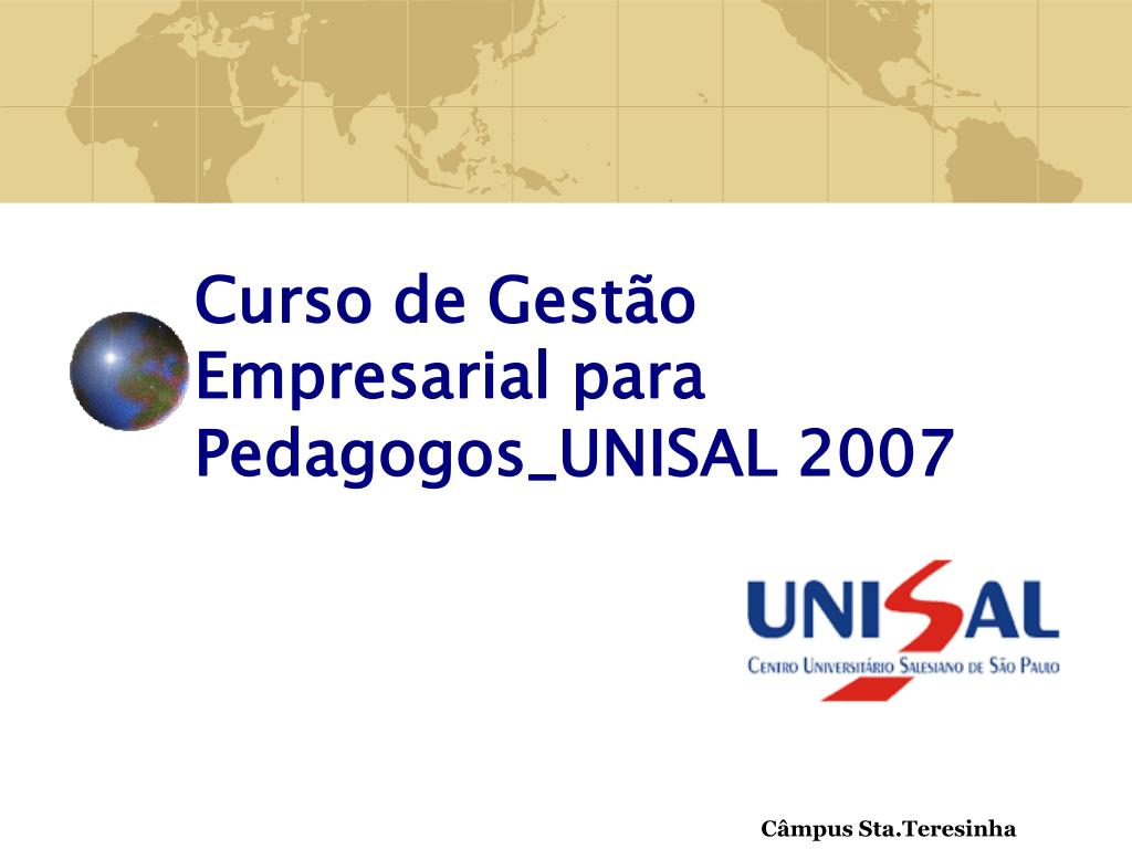 curso de gest o empresarial para pedagogos unisal 2007 l.