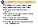 principais erros das pequenas empresas quanto ao marketing