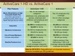 activecare 1 hd vs activecare 1