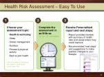 health risk assessment easy to use