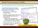 health risk assessment hra