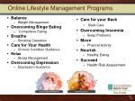 online lifestyle management programs