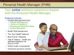 personal health manager phm