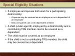 special eligibility situations