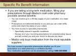 specific rx benefit information1