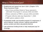 what is trs activecare