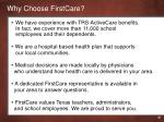 why choose firstcare