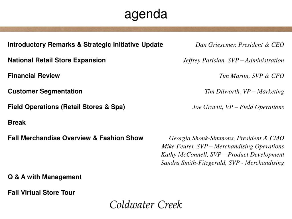 Introductory Remarks & Strategic Initiative Update
