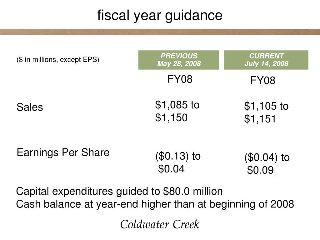 fiscal year guidance