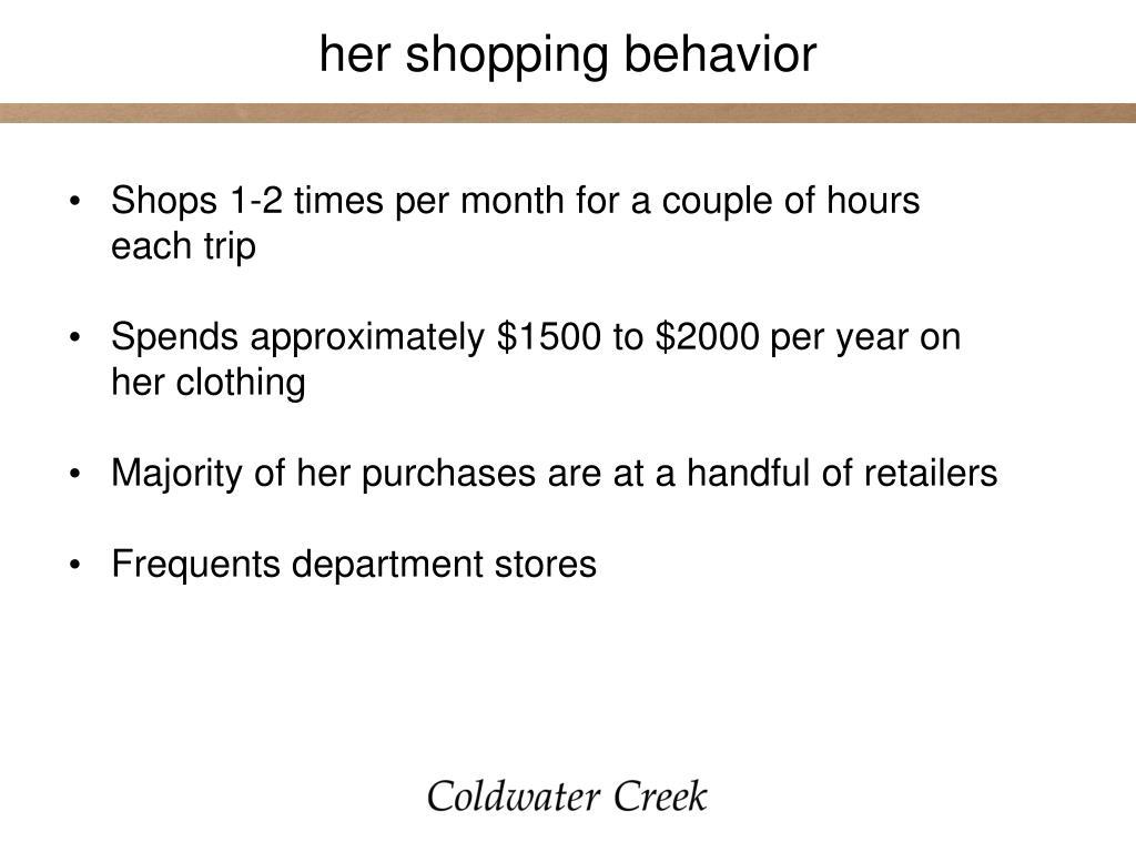 her shopping behavior