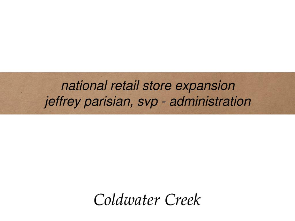 national retail store expansion