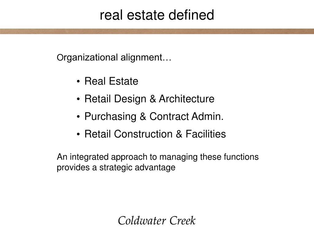 real estate defined