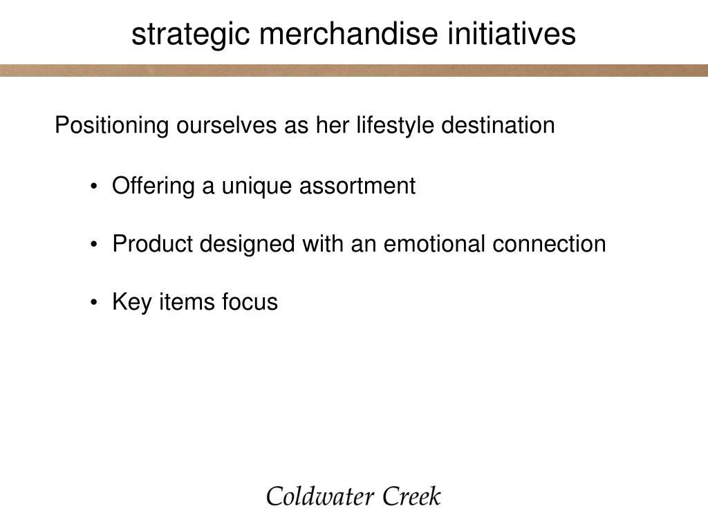 strategic merchandise initiatives