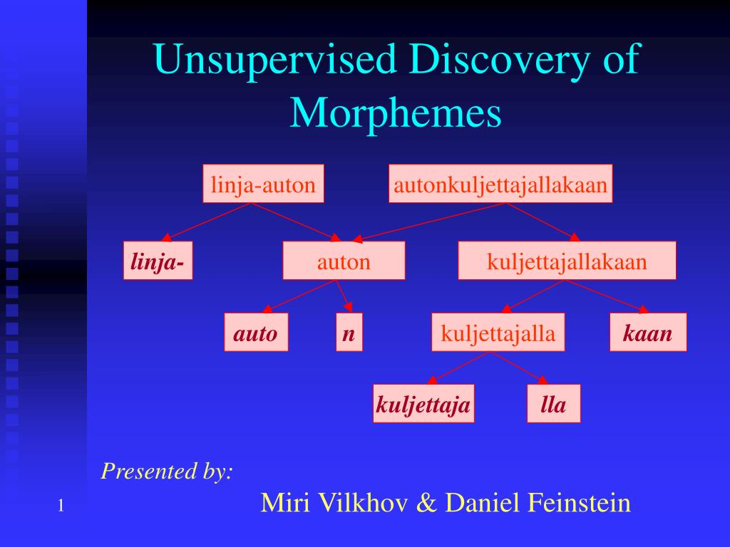 unsupervised discovery of morphemes l.
