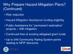 why prepare hazard mitigation plans continued