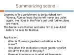 summarizing scene iii