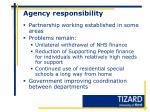 agency responsibility