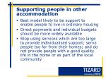 supporting people in other accommodation