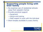 supporting people living with their family