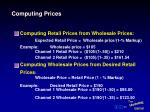 computing prices