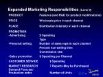 expanded marketing responsibilities level 2