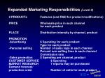 expanded marketing responsibilities level 3
