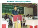 farmers training programme