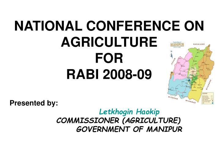 national conference on agriculture for rabi 2008 09 n.