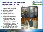 first nations community engagement csr