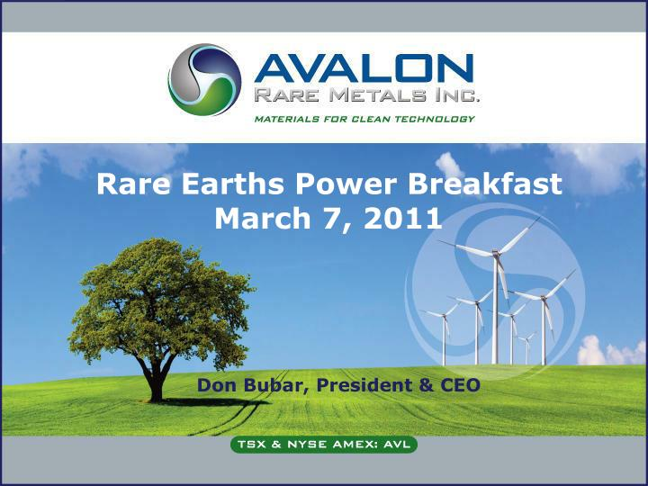 rare earths power breakfast march 7 2011 n.