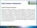 safe harbour statement