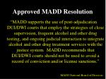approved madd resolution