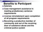 benefits to participant