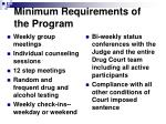 minimum requirements of the program