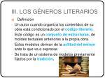 iii los g neros literarios