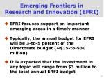 emerging frontiers in research and innovation efri