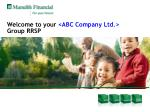 welcome to your abc company ltd group rrsp