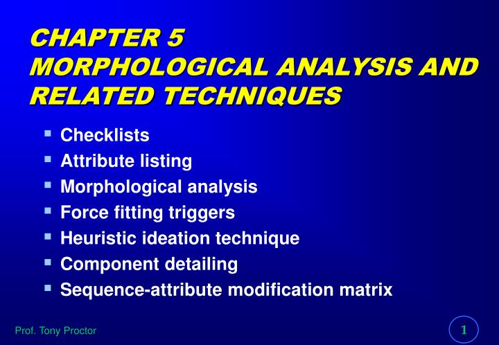 chapter 5 morphological analysis and related techniques n.