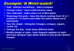 example a wrist watch