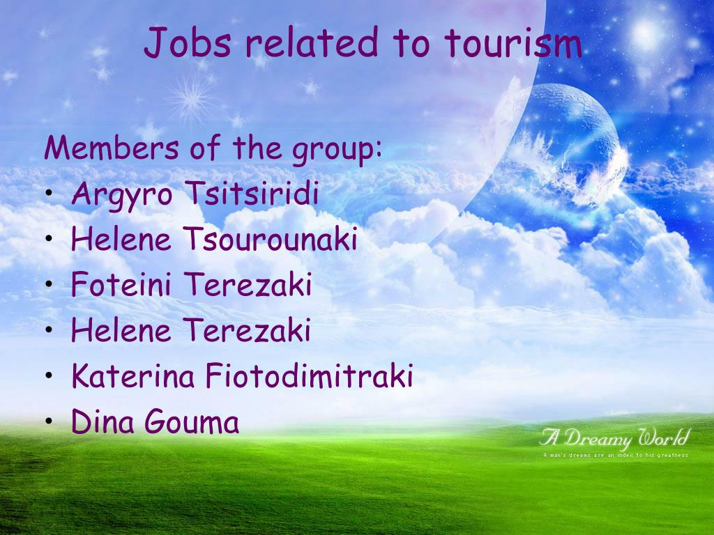 jobs related to tourism l.