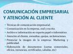 comunicaci n empresarial y atenci n al cliente