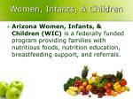 women infants children