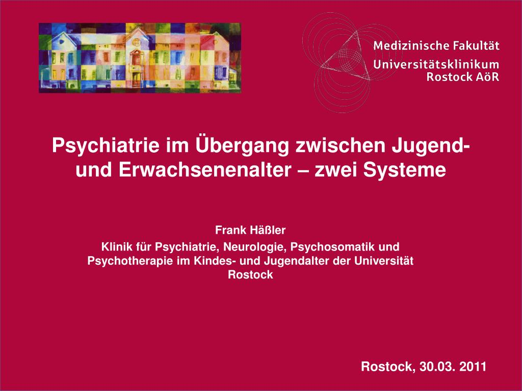 psychiatrie im bergang zwischen jugend und erwachsenenalter zwei systeme l.
