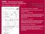 pws expressionsmangel von genen auf dem v terlichen chromosom 15q11 q13