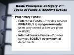 basic principles category 2 types of funds account groups