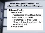 basic principles category 2 types of funds account groups23