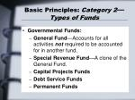 basic principles category 2 types of funds